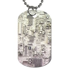 White Technology Circuit Board Electronic Computer Dog Tag (two Sides) by BangZart