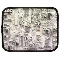 White Technology Circuit Board Electronic Computer Netbook Case (large) by BangZart