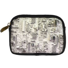 White Technology Circuit Board Electronic Computer Digital Camera Cases by BangZart