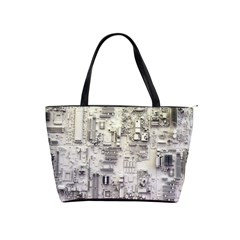 White Technology Circuit Board Electronic Computer Shoulder Handbags by BangZart