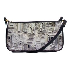 White Technology Circuit Board Electronic Computer Shoulder Clutch Bags by BangZart