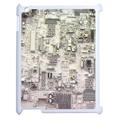 White Technology Circuit Board Electronic Computer Apple Ipad 2 Case (white) by BangZart
