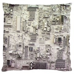 White Technology Circuit Board Electronic Computer Large Cushion Case (one Side) by BangZart
