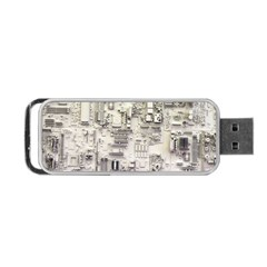 White Technology Circuit Board Electronic Computer Portable Usb Flash (one Side) by BangZart