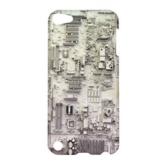 White Technology Circuit Board Electronic Computer Apple Ipod Touch 5 Hardshell Case by BangZart