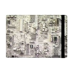 White Technology Circuit Board Electronic Computer Apple Ipad Mini Flip Case by BangZart