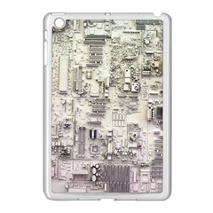 White Technology Circuit Board Electronic Computer Apple Ipad Mini Case (white) by BangZart