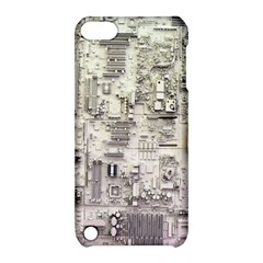 White Technology Circuit Board Electronic Computer Apple Ipod Touch 5 Hardshell Case With Stand by BangZart