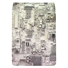 White Technology Circuit Board Electronic Computer Flap Covers (s)  by BangZart