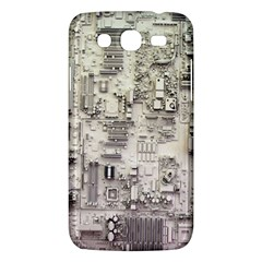 White Technology Circuit Board Electronic Computer Samsung Galaxy Mega 5 8 I9152 Hardshell Case  by BangZart