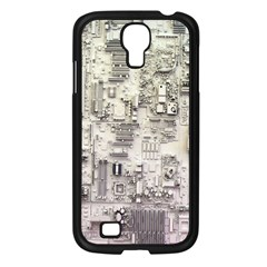 White Technology Circuit Board Electronic Computer Samsung Galaxy S4 I9500/ I9505 Case (black) by BangZart