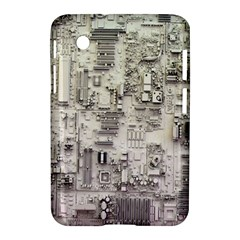 White Technology Circuit Board Electronic Computer Samsung Galaxy Tab 2 (7 ) P3100 Hardshell Case  by BangZart