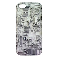 White Technology Circuit Board Electronic Computer Iphone 5s/ Se Premium Hardshell Case by BangZart