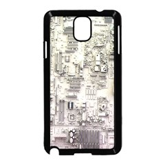 White Technology Circuit Board Electronic Computer Samsung Galaxy Note 3 Neo Hardshell Case (black)