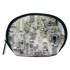 White Technology Circuit Board Electronic Computer Accessory Pouches (medium)  by BangZart