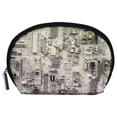 White Technology Circuit Board Electronic Computer Accessory Pouches (large)  by BangZart