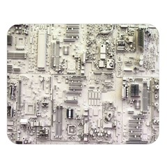 White Technology Circuit Board Electronic Computer Double Sided Flano Blanket (large)  by BangZart