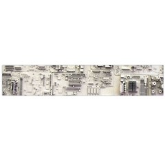 White Technology Circuit Board Electronic Computer Flano Scarf (large)