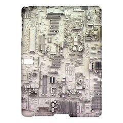 White Technology Circuit Board Electronic Computer Samsung Galaxy Tab S (10 5 ) Hardshell Case  by BangZart