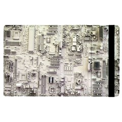 White Technology Circuit Board Electronic Computer Apple Ipad Pro 9 7   Flip Case by BangZart