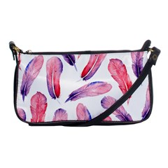 Watercolor Pattern With Feathers Shoulder Clutch Bags by BangZart