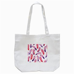 Watercolor Pattern With Feathers Tote Bag (white) by BangZart