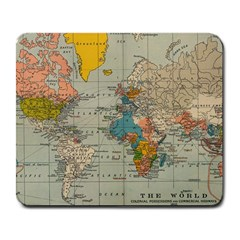 Vintage World Map Large Mousepads by BangZart