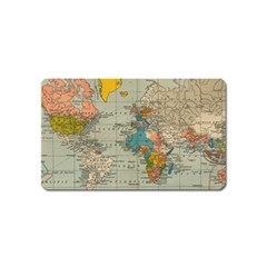 Vintage World Map Magnet (name Card) by BangZart
