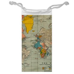 Vintage World Map Jewelry Bag