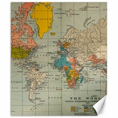 Vintage World Map Canvas 20  X 24   by BangZart