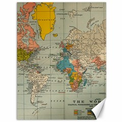 Vintage World Map Canvas 36  X 48   by BangZart