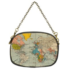 Vintage World Map Chain Purses (one Side)  by BangZart