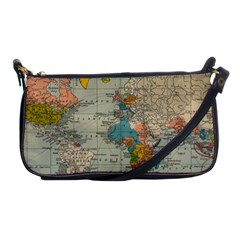 Vintage World Map Shoulder Clutch Bags by BangZart