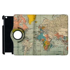 Vintage World Map Apple Ipad 3/4 Flip 360 Case by BangZart