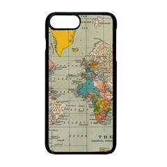Vintage World Map Apple Iphone 7 Plus Seamless Case (black) by BangZart