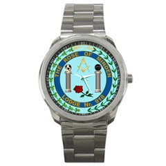 Rom Logo No Numerals Sport Metal Watch by mdnp