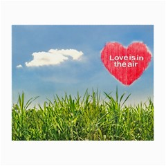 Love Concept Poster Small Glasses Cloth by dflcprints