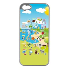 Animal Alphabet Cases Apple Iphone 5 Case (silver) by DBDesigns