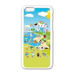 Animal Alphabet Cases Apple Iphone 6/6s White Enamel Case by DBDesigns