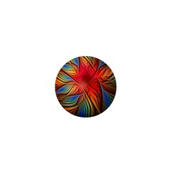 Vintage Colors Flower Petals Spiral Abstract 1  Mini Magnets by BangZart