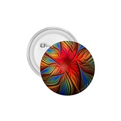 Vintage Colors Flower Petals Spiral Abstract 1 75  Buttons by BangZart