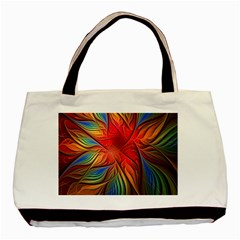 Vintage Colors Flower Petals Spiral Abstract Basic Tote Bag by BangZart