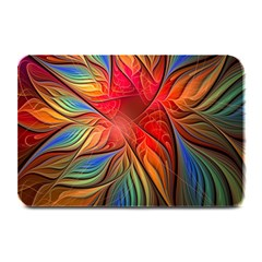Vintage Colors Flower Petals Spiral Abstract Plate Mats by BangZart