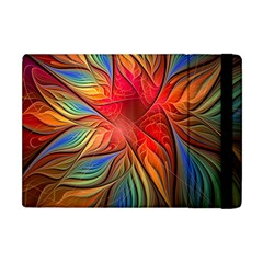 Vintage Colors Flower Petals Spiral Abstract Apple Ipad Mini Flip Case