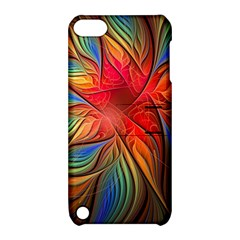 Vintage Colors Flower Petals Spiral Abstract Apple Ipod Touch 5 Hardshell Case With Stand by BangZart