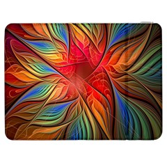 Vintage Colors Flower Petals Spiral Abstract Samsung Galaxy Tab 7  P1000 Flip Case by BangZart