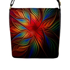Vintage Colors Flower Petals Spiral Abstract Flap Messenger Bag (l)  by BangZart