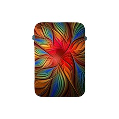 Vintage Colors Flower Petals Spiral Abstract Apple Ipad Mini Protective Soft Cases by BangZart