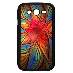 Vintage Colors Flower Petals Spiral Abstract Samsung Galaxy Grand Duos I9082 Case (black) by BangZart