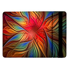 Vintage Colors Flower Petals Spiral Abstract Samsung Galaxy Tab Pro 12 2  Flip Case by BangZart